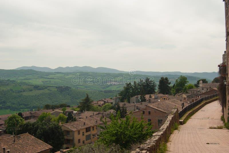 View form Todi on hills around stock image