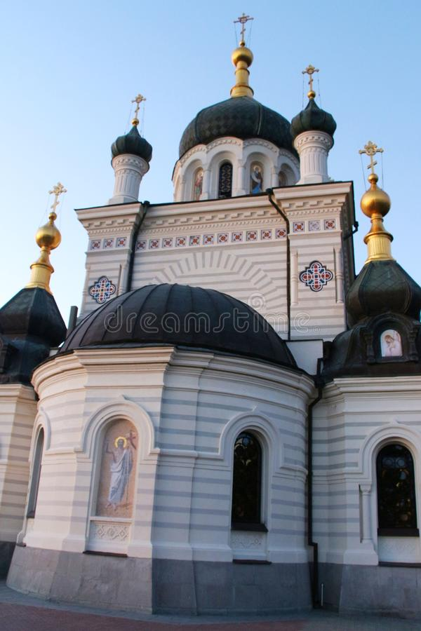 View of Foros Church in Crimea near Yalta city royalty free stock images