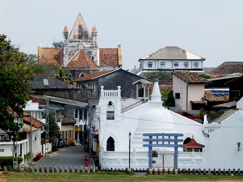 View of the Fort Galle. Sri Lanka royalty free stock images