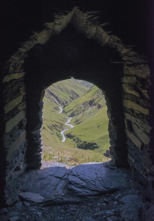 View from the fortress window royalty free stock photo