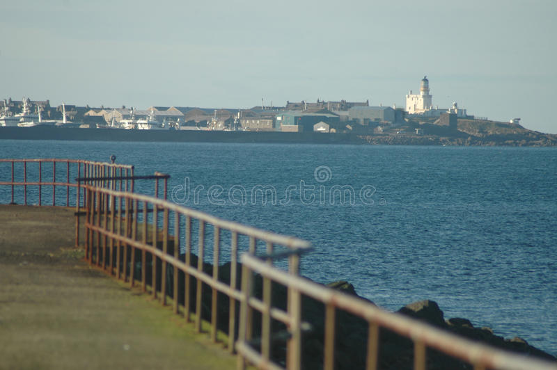 View of Fraserburgh from Cairnbulg Harbour, Scotland royalty free stock photo