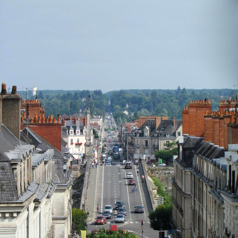 View on french city Blois from high royalty free stock photography