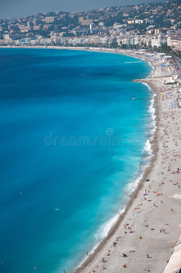 View of the french riviera coastline stock image