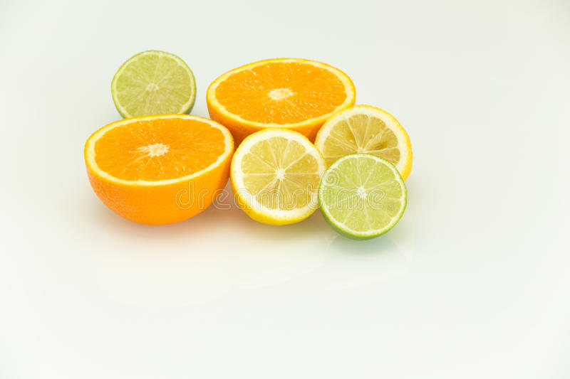 View of the fresh citrus fruits. / background royalty free stock photos