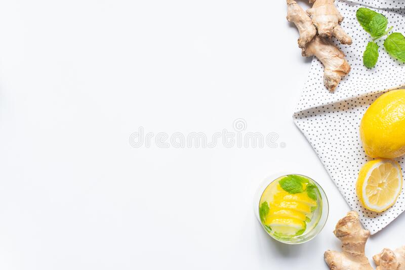 Top view of fresh lemonade in stock photos