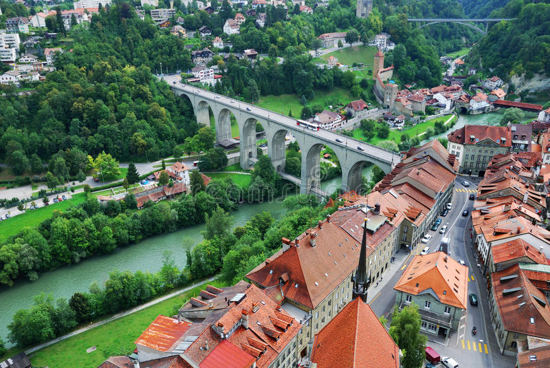 Download View Of Fribourg From Above Stock Photo - Image: 37537646