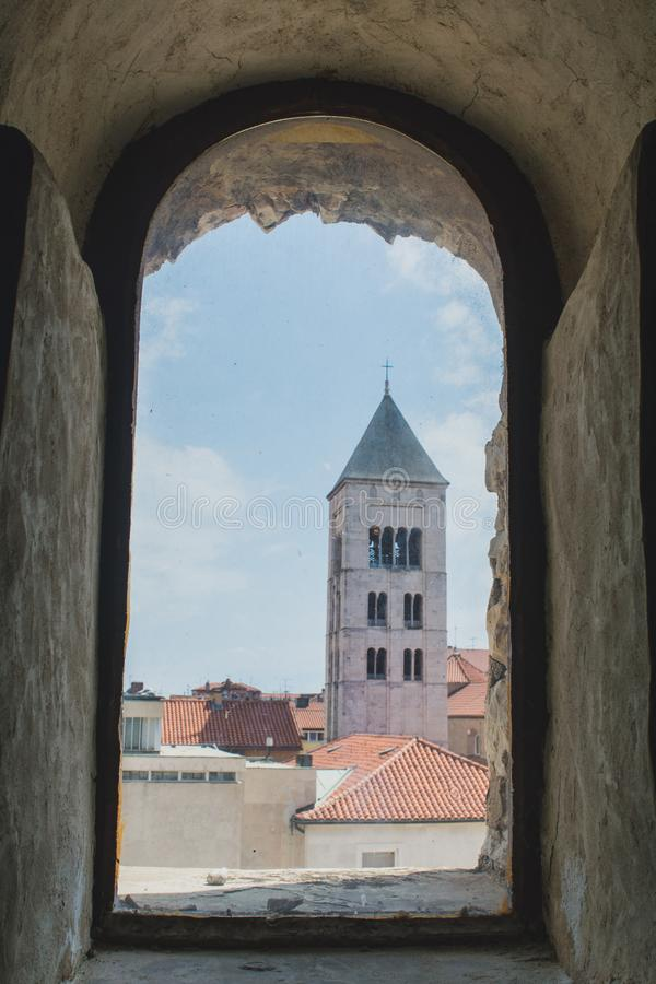 Free View From The Old Window In Zadar Royalty Free Stock Photography - 158948337