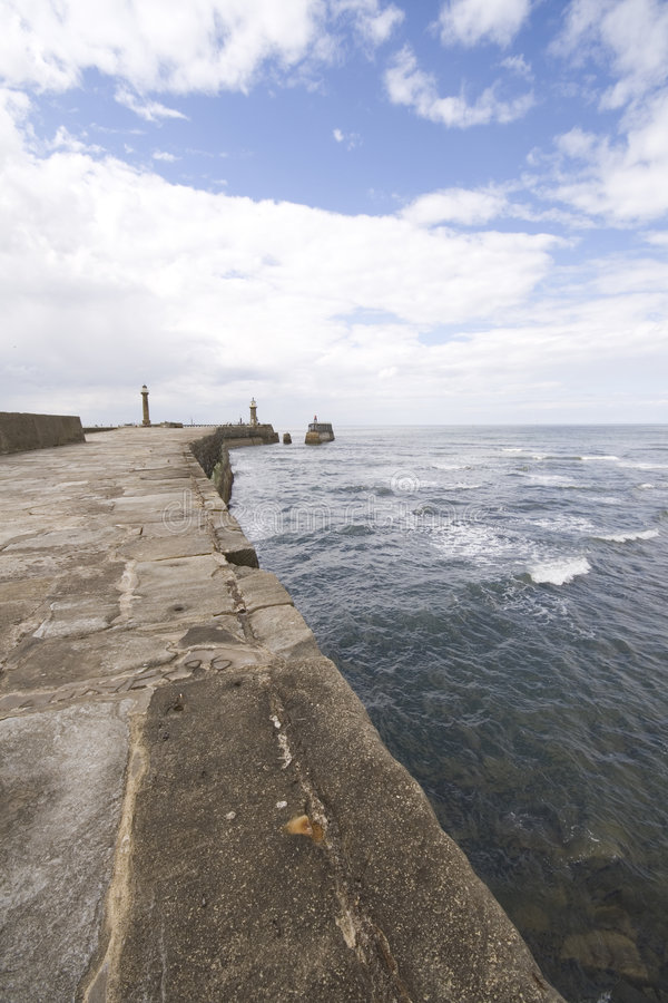 Free View From Whitby Harbour Sea Wall Stock Photos - 7977123