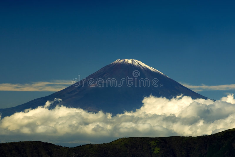 View on Fuji mountain royalty free stock image