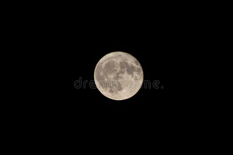 View of the full moon royalty free stock photo