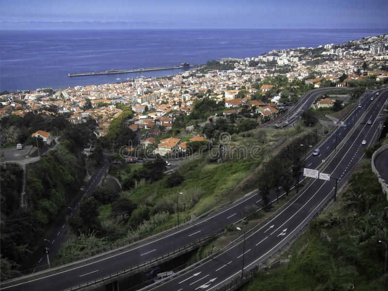 A view of Funchal Madeira. A view of Funchal, the capital city of the Madeira royalty free stock image
