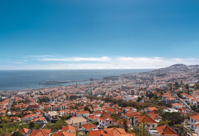View of Funchal. Madeira island, Portugal stock photo