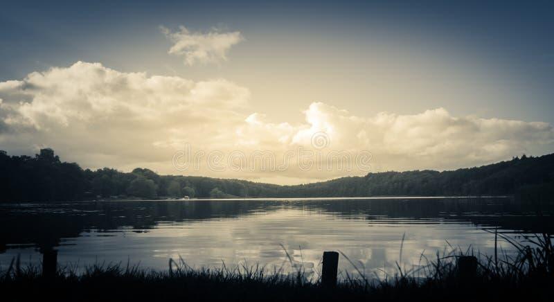 Furesø Lake in Hareskoven, Denmark stock images