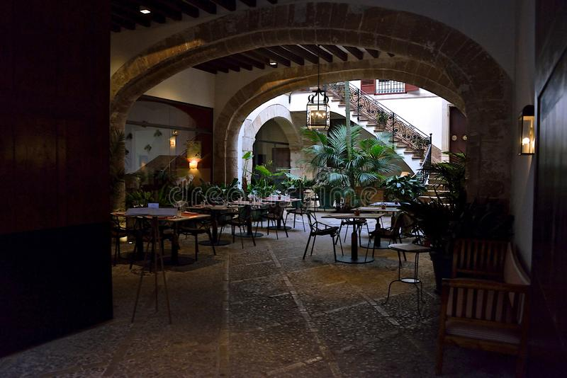 Restaurant in Palma de Mallorca stock image