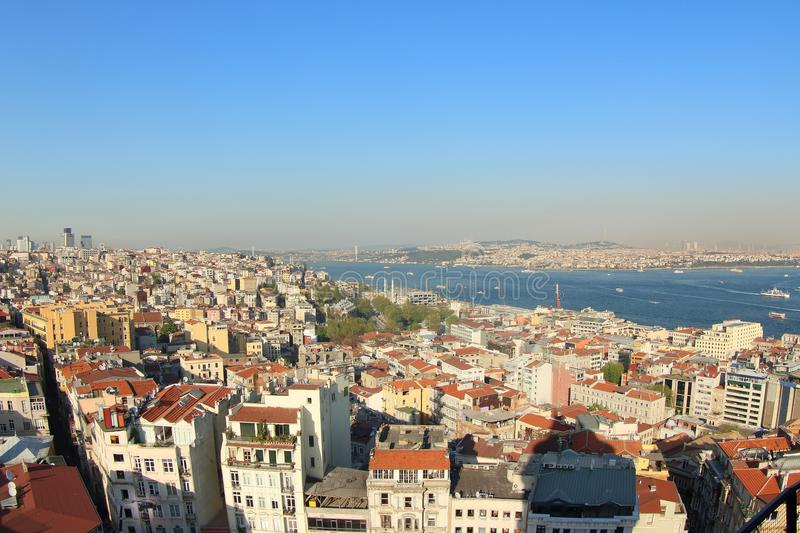 View from Galata Tower, Turkey stock photos
