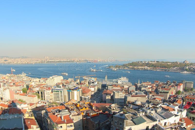 View from Galata Tower, Turkey stock photography