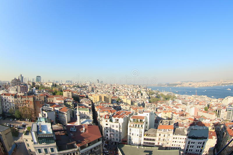 View from Galata Tower, Turkey stock images
