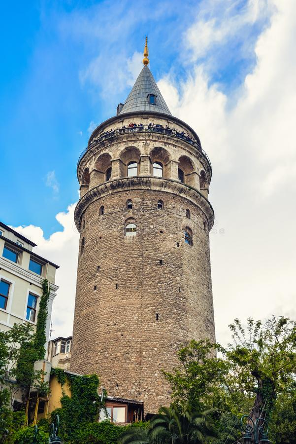 View of the Galata Tower. In the historic district in Istanbul n royalty free stock photos