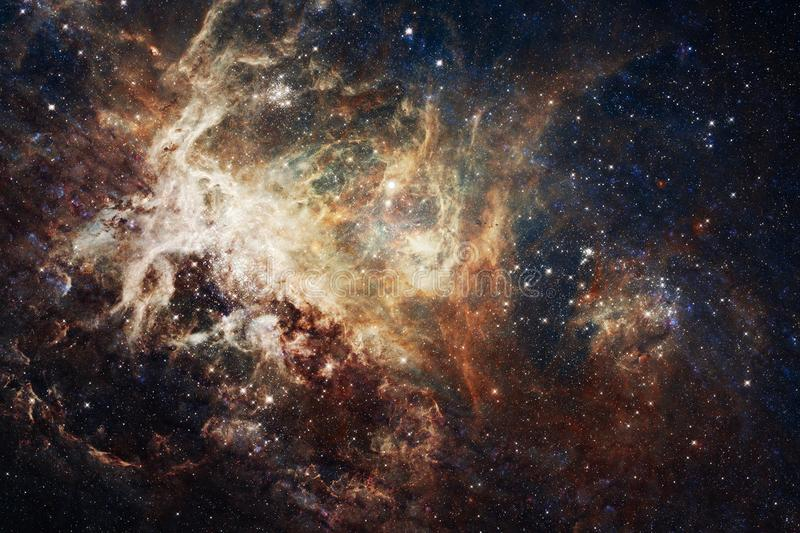 View of the galaxy with nebula. Elements of this image furnished by NASA royalty free illustration