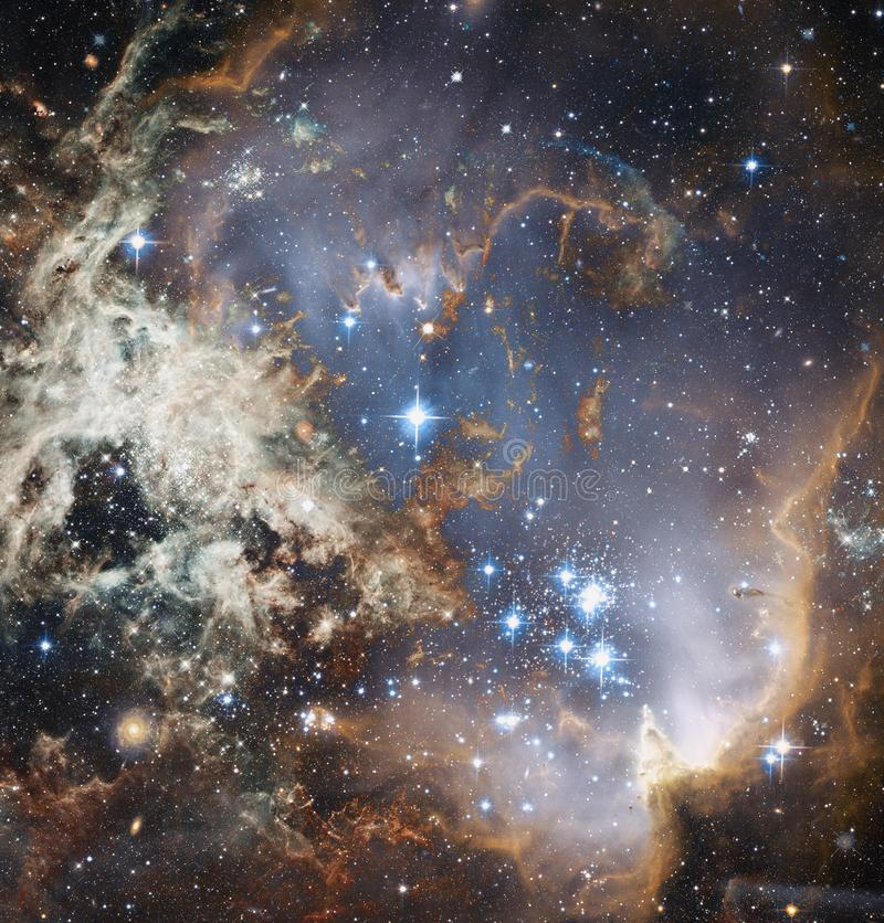 View of the galaxy in deep space. Elements of this image furnished by NASA royalty free illustration