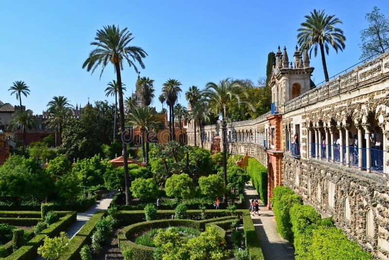 A view of Galeria de Grutescos in Alcazar of Seville, Spain. Europe stock photography