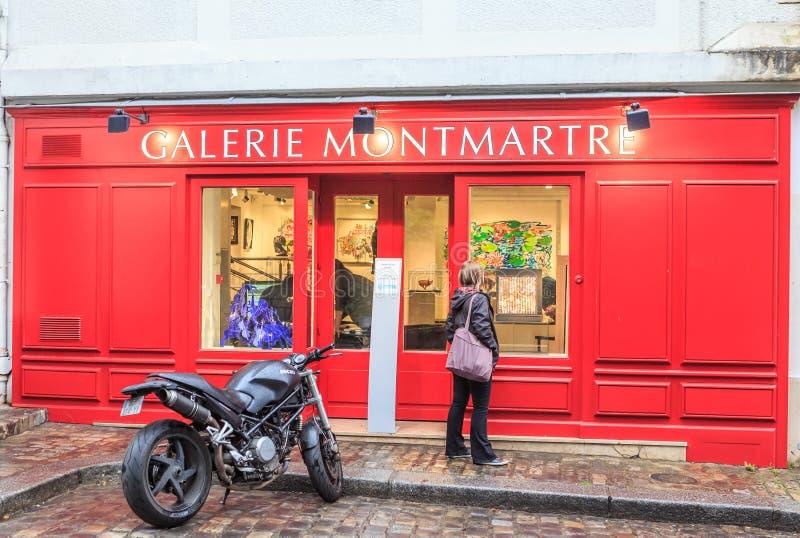 Galerie Montmartre, Montmartre, Paris, Ile de France stock photo