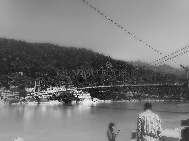 View of Ganga River royalty free stock photos