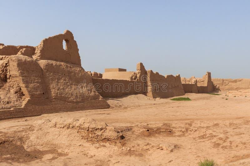 View of the Gaochang ruins near the city of Turpan, Xinjiang. China royalty free stock photos