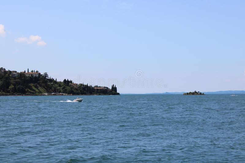 View of Garda Lake Malcesine Italy royalty free stock photo