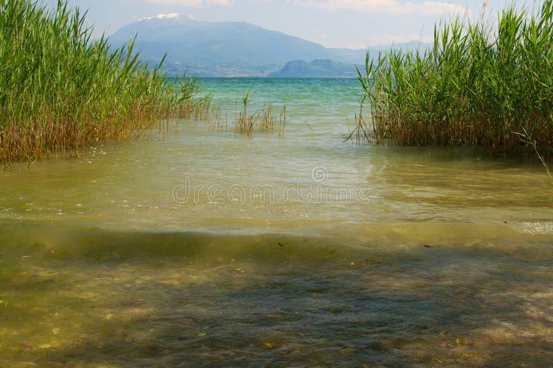 View of Garda lake. Sirmione Brescia, Italy. Taken on May 25, 2014 royalty free stock photography