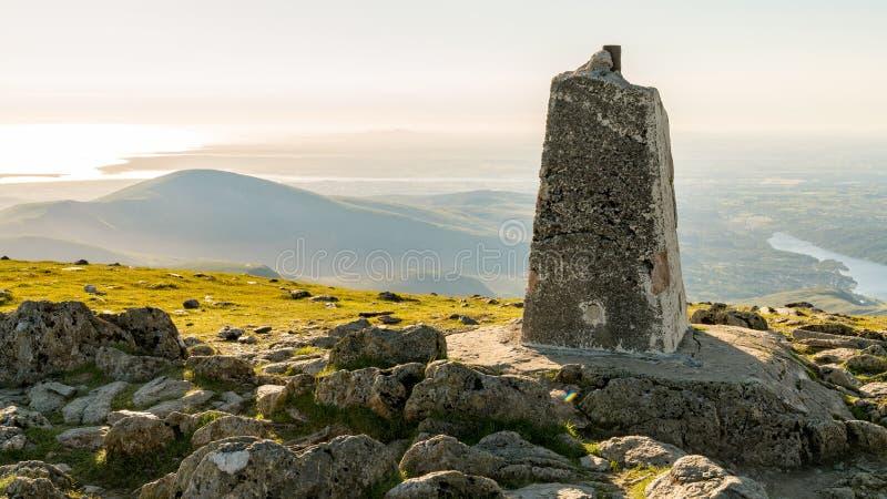 View from Garnedd Ugain towards Llanberis, Gwynedd, Wales, UK. View from Garnedd Ugain, Gwynedd, Wales, UK - looking north towards Llyn Padarn and Llanberis royalty free stock photos
