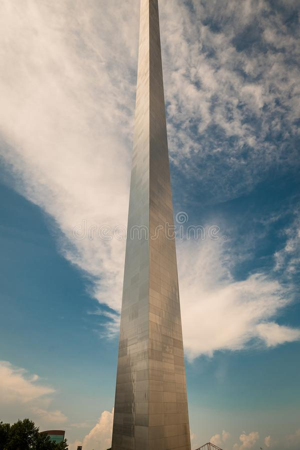 A different perspective of the gate way arch in st louis misouri. A view of the Gateway arch in ST. Louis Misouri. The arch was designed to represent the stock images