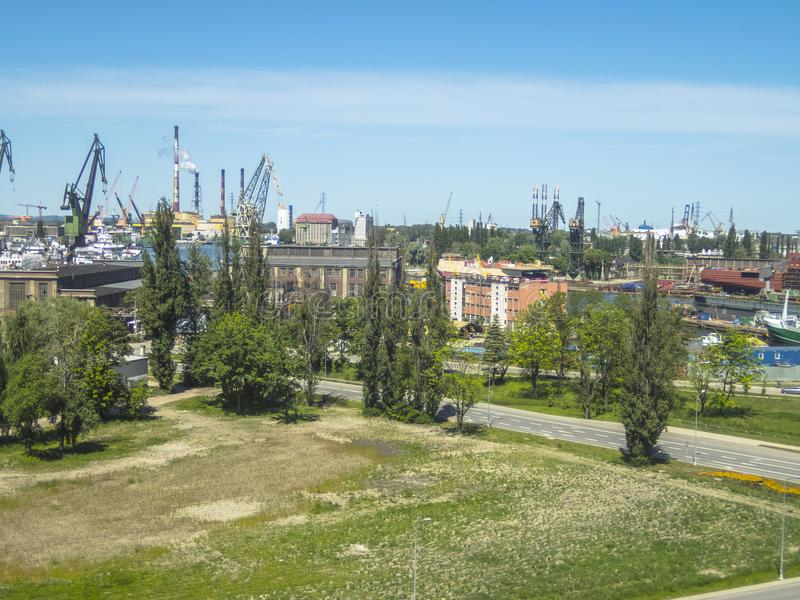 Gdansk Shipyard , panorama stock images