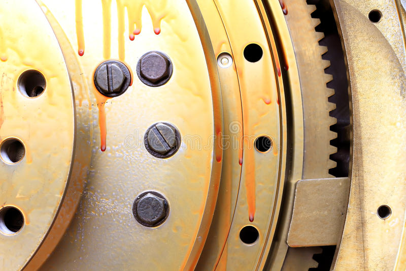 View Of Gears From  Mechanism Stock Image