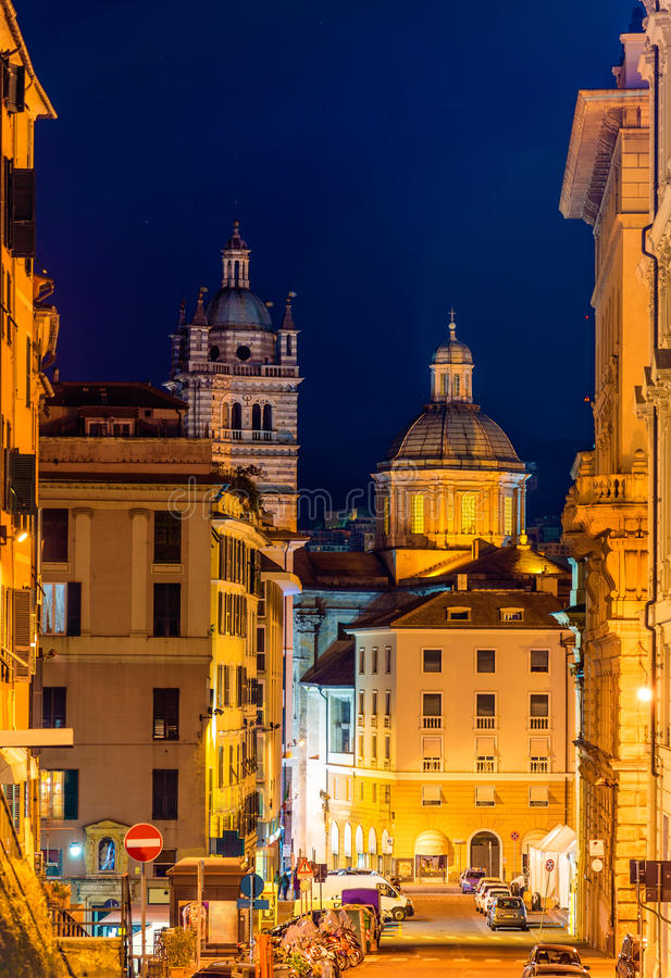 View of the Genoa Cathedral. Italy royalty free stock photo