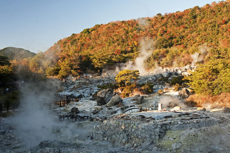 View of the geothermal spa stock photo