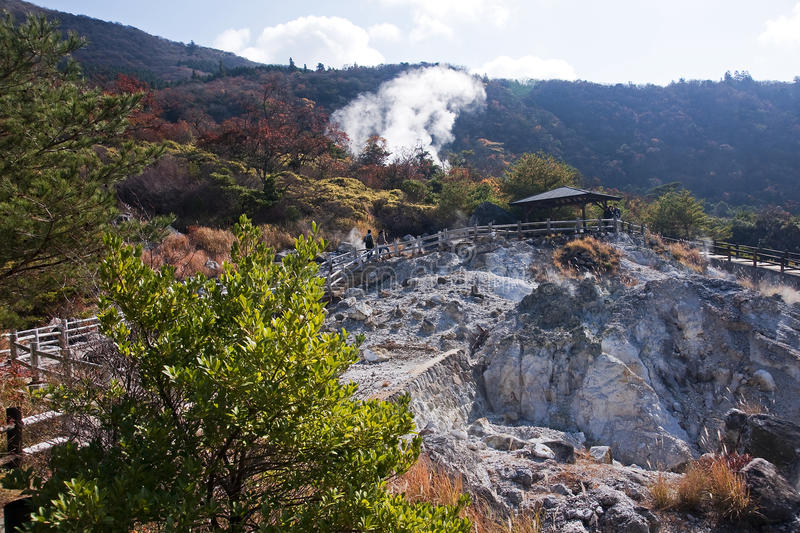 View of the geothermal spa stock image