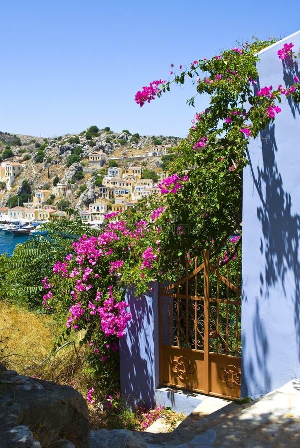 View from Gialos, Greece stock photos