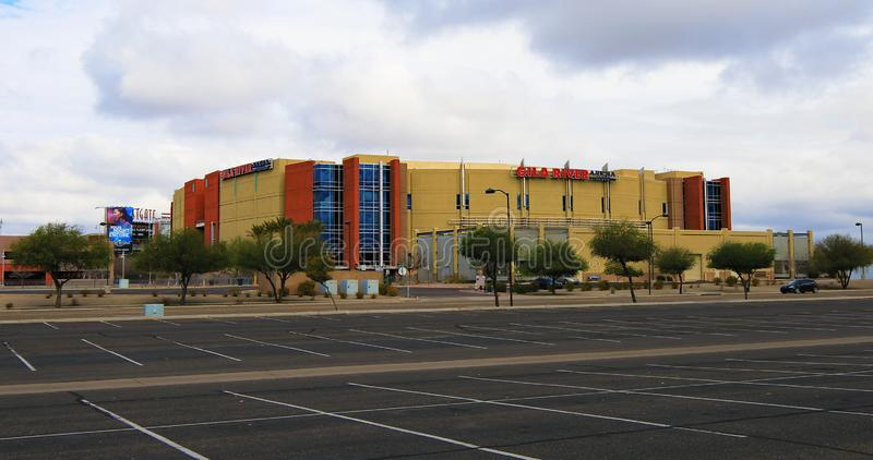 View of Gila River Arena in Glendale, Arizona. Opened in 2003, it houses the Phoenix Coyotes of the NHL stock photos