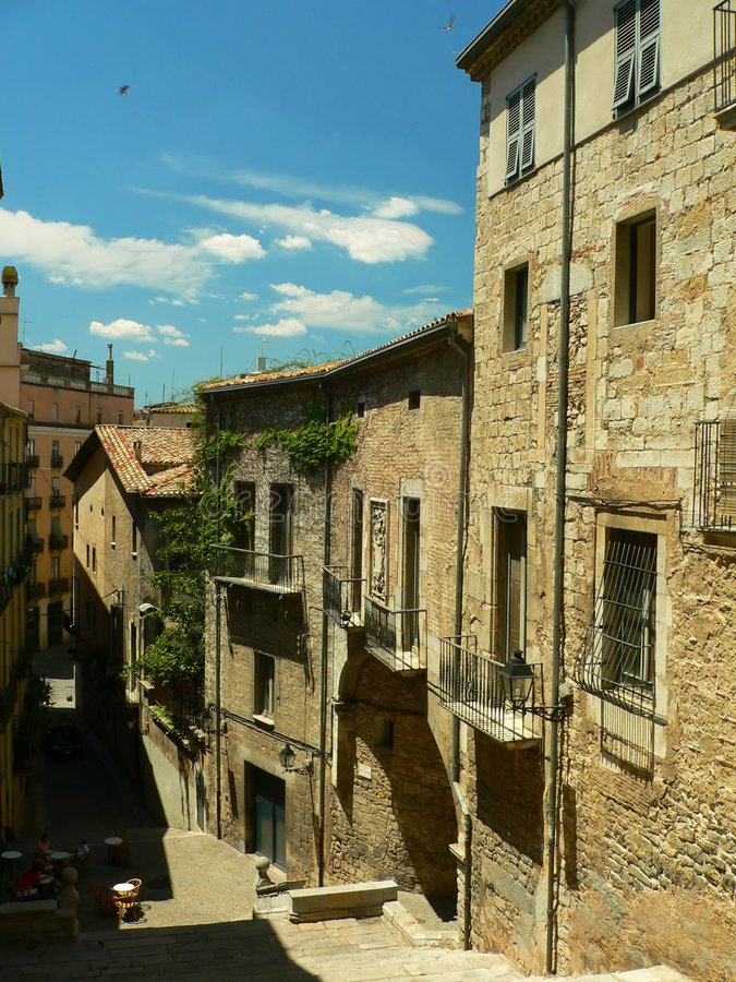 View of Girona royalty free stock photography