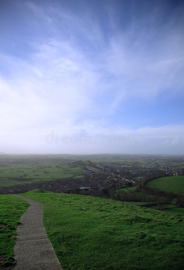 View from Glastonbury Tor royalty free stock photography