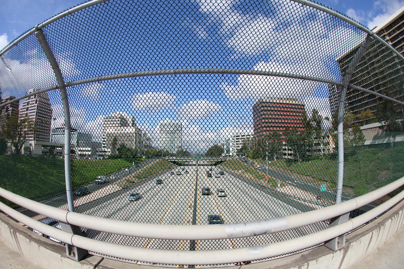 View of Glendale, CA and the 134 Freeway stock photo