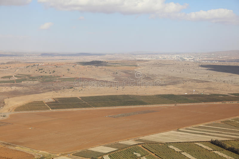 View from Golan Heights to Syria royalty free stock images