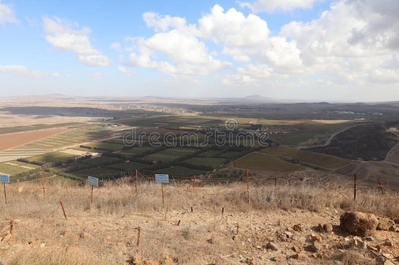 View from Golan Heights to Syria royalty free stock photos