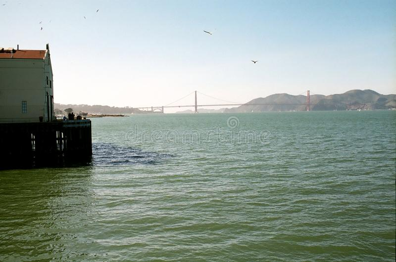 View of Golden Gate Bridge and Marin Headlands stock photography