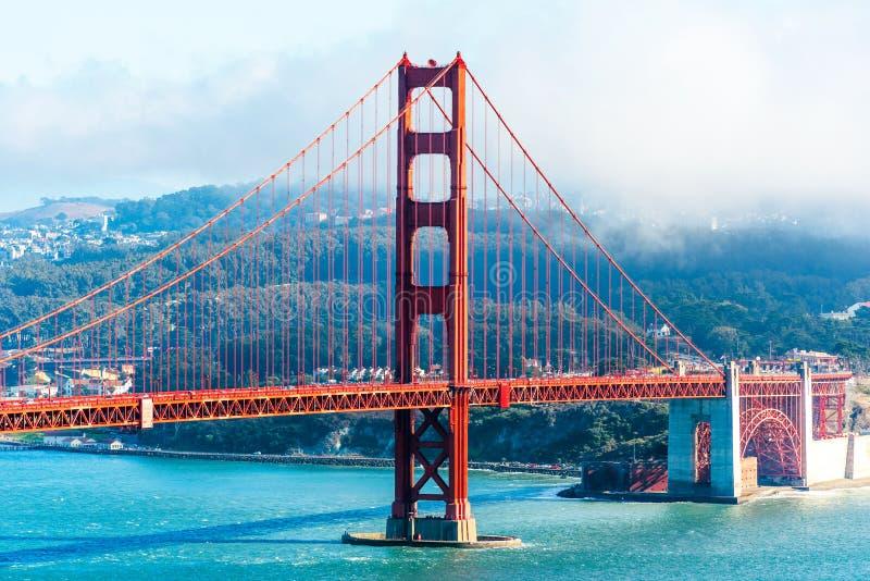 View of The Golden Gate Bridge in San Francisco, USA.  stock photos