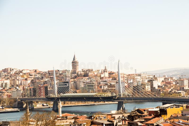 A view of the Golden Horn of Istanbul royalty free stock photo