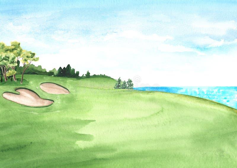 Watercolor Golf Stock Illustrations 141 Watercolor Golf Stock Illustrations Vectors Clipart Dreamstime