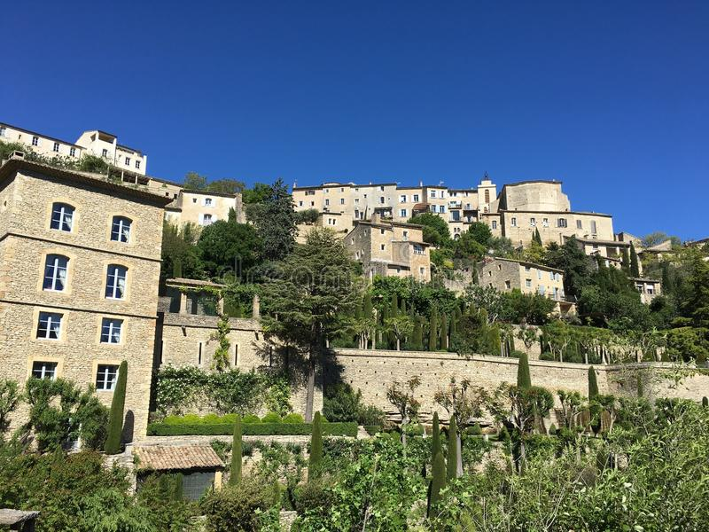 Download View of Gordes village stock image. Image of south, region - 92358307