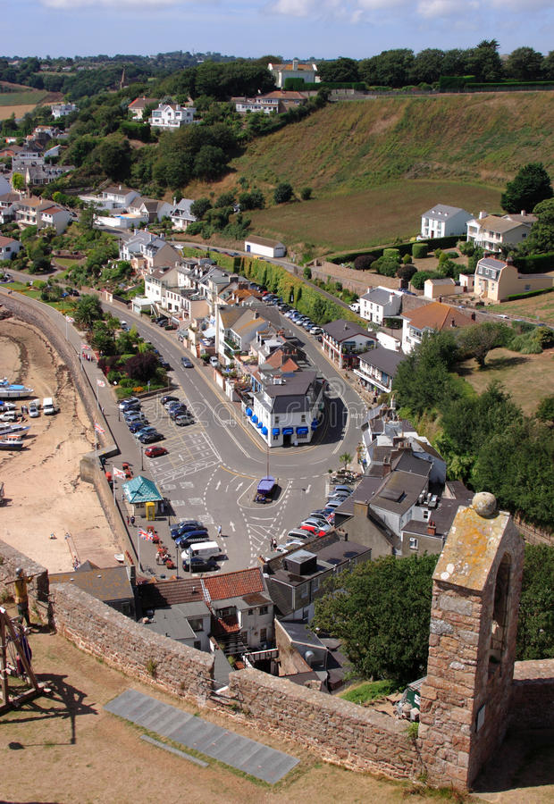 View from Gorey Castle, Jersey royalty free stock photography